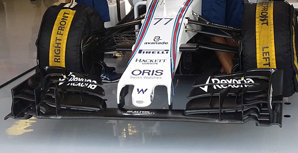 Williams front wing, Hungarian GP 2015
