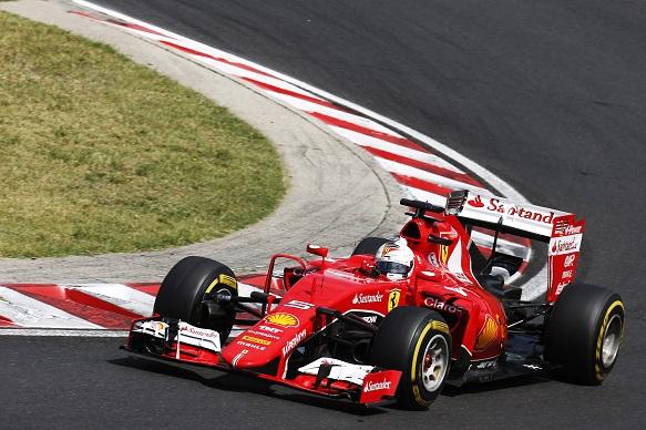Sebastian Vettel, Ferrari, Hungarian Grand Prix 2015