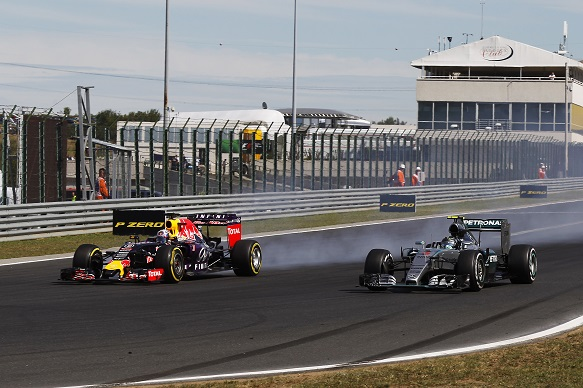 Daniel Ricciardo and Nico Rosberg, Hungarian Grand Prix 2015