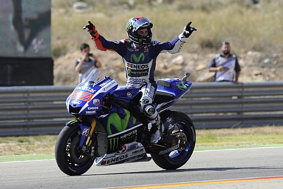 Jorge Lorenzo wins Aragon MotoGP 2015