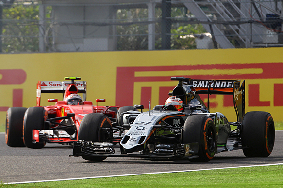 Force India among 'quickest' in races