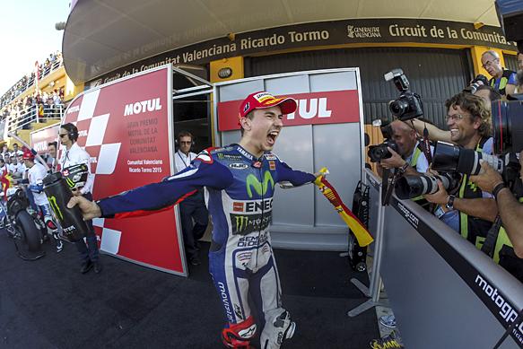 Jorge Lorenzo wins 2015 MotoGP title
