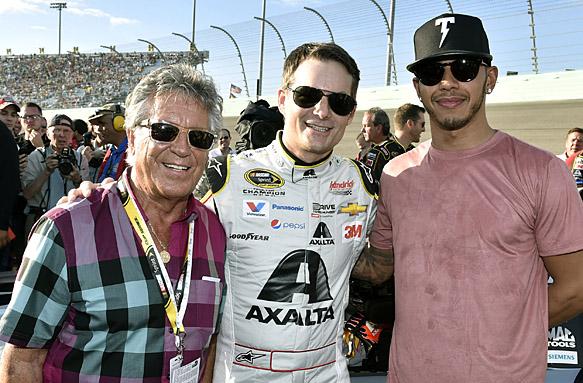 Mario Andretti, Jeff Gordon, Lewis Hamilton, NASCAR 2015