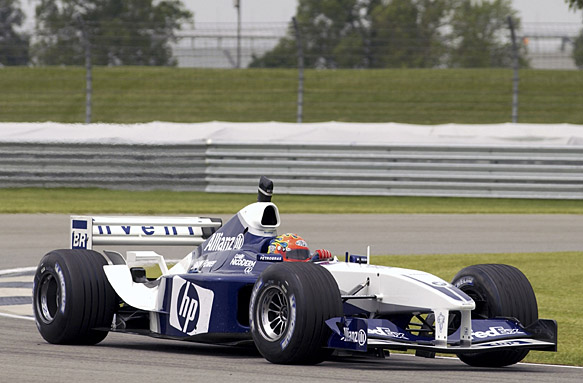Jeff Gordon drives a Williams F1 car
