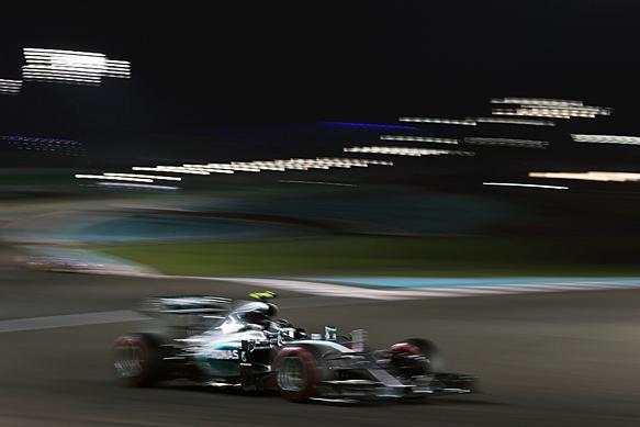 Nico Rosberg, Mercedes, Abu Dhabi GP 2015