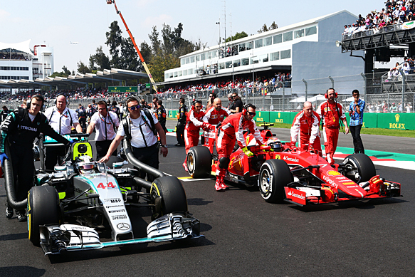 Mercedes and Ferrari, Mexican GP 2015