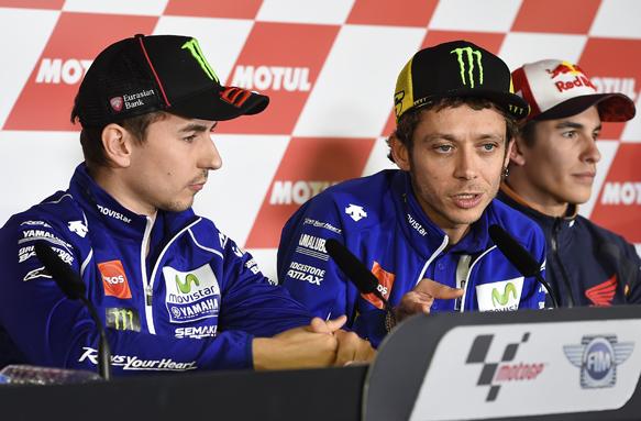 Lorenzo, Rossi, Marquez