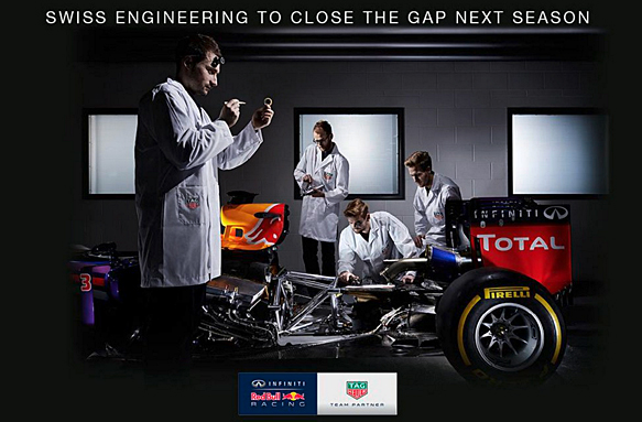Red Bull Tag Heuer announcement on Twitter