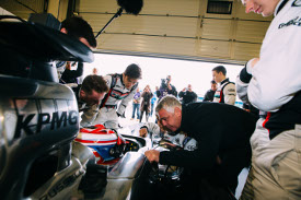 George Russell McLaren test