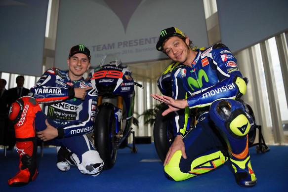 Lorenzo, Rossi, Yamaha MotoGP launch 2015