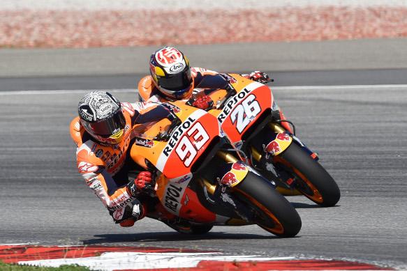 Marquez, Pedrosa, Honda Sepang test 2016