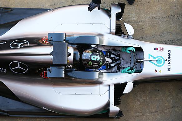 Nico Rosberg, Mercedes, Barcelona F1 testing 2016