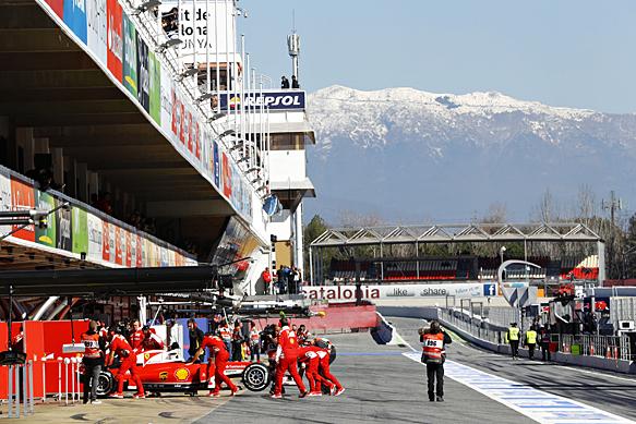 Kimi Raikkonen, Ferrari, Barcelona F1 testing 2016