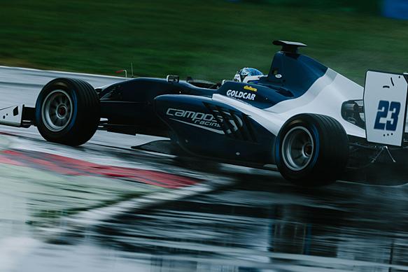 Giedo van der Garde, Campos, GP3 shakedown