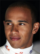 2008 Formula 1 world champion Lewis Hamilton