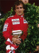 1985 Formula 1 world champion Alain Prost