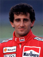 1989 Formula 1 world champion Alain Prost