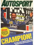 AUTOSPORT, 20 August 1992