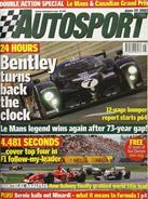 AUTOSPORT, 19 June 2003