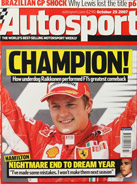 AUTOSPORT, 25 October 2007