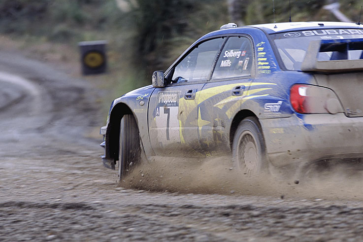 Petter Solberg beats Sebastien Loeb to the World Rally Championship title by a single point