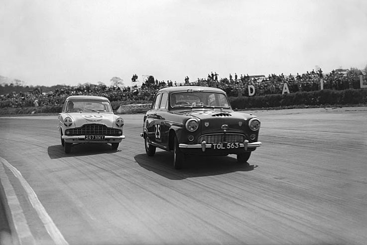 Jack Sears wins the inaugural British Saloon Car Championship (now BTCC)