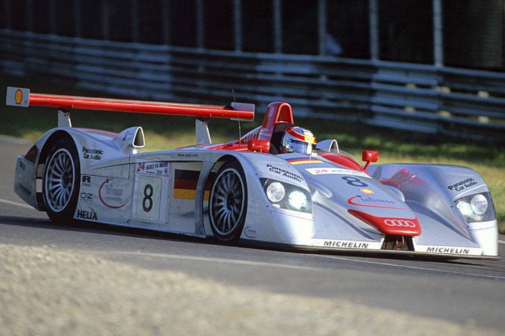 Audi wins Le Mans for the first time with Frank Biela, Tom Kristensen and Emmanuele Pirro