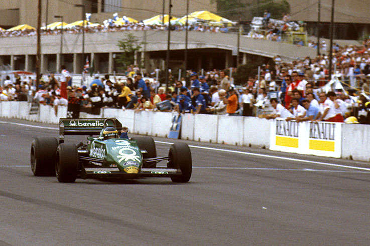 Michele Alboreto scores the last grand prix victory for the Tyrrell team at Detroit