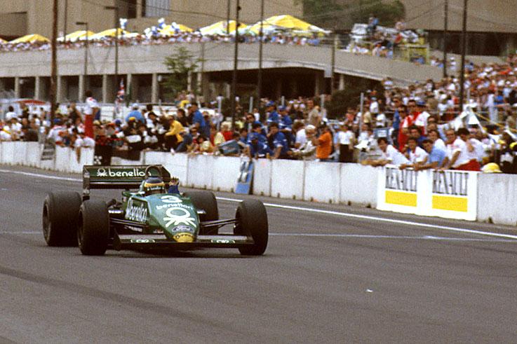 Michele Alboreto scores the last grand prix victory for the Tyrrell team at Detroit