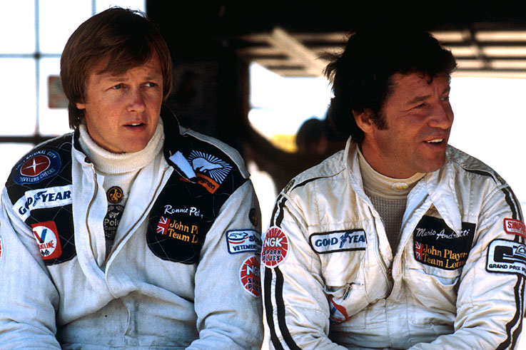 Ronnie Peterson (pictured with Mario Andretti) dies from injuries sustained in a crash at Monza