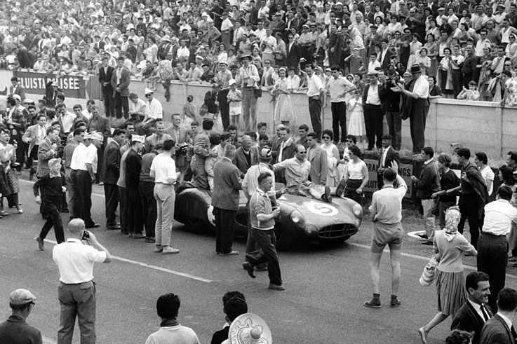 Roy Salvadori and Carroll Shelby win Le Mans for Aston Martin