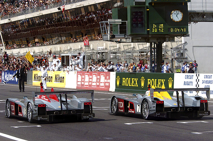Audi claims the first diesel-powered victory in the Le Mans 24 Hours