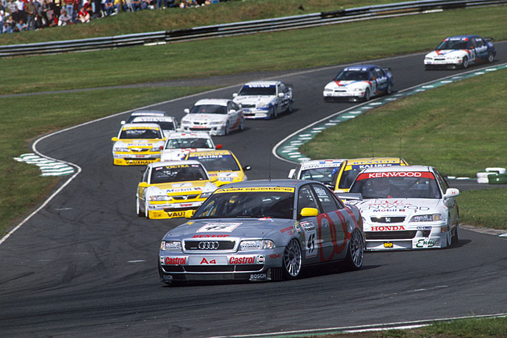 Frank Biela wins the British Touring Car Championship at the height of the Super Touring era