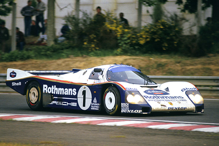 Derek Bell, Hans-Joachim Stuck and Al Holbert wins Le Mans as Porsche sweeps the first seven places