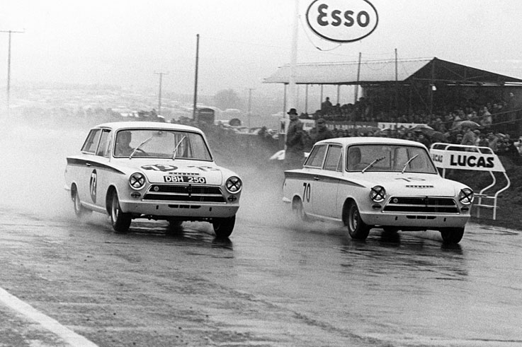 Jim Clark wins the British Saloon Car Championship