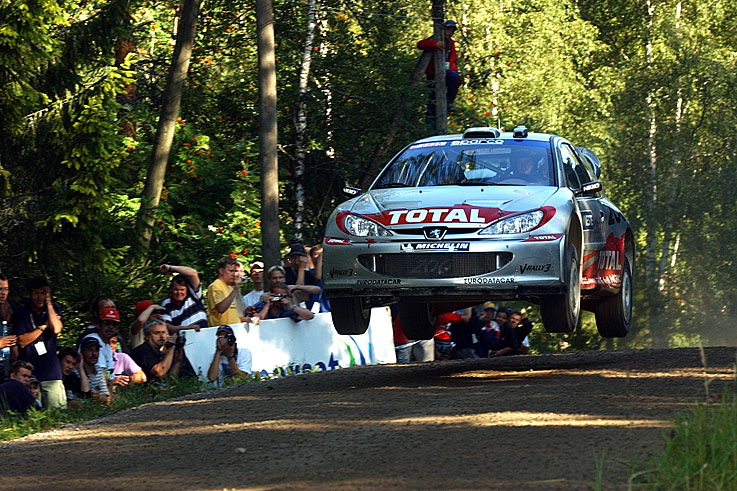 Marcus Gronholm wins his second World Rally Championship with Peugeot