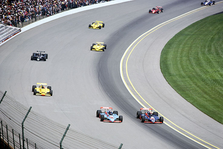 Gordon Johncock (#20) won his second Indianapolis 500