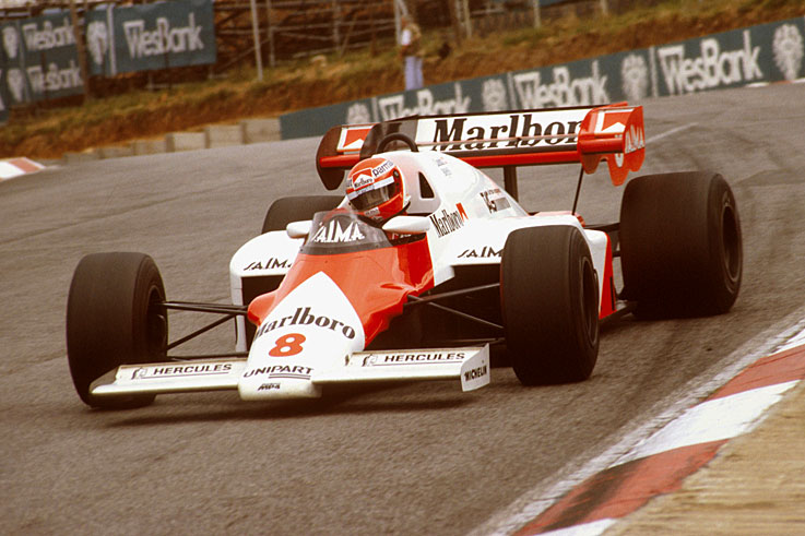 Niki Lauda secures his third and final F1 crown by half a point from Alain Prost