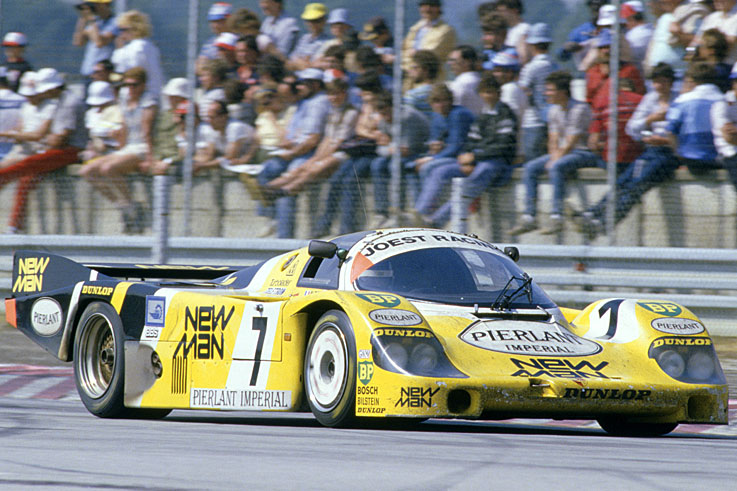 Klaus Ludwig and Henri Pescarolo score the first of the Joest team's nine Le Mans 24 Hours victories