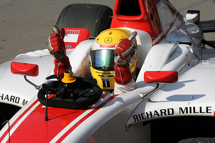 Lewis Hamilton wins the GP2 title and earns a McLaren drive for 2007