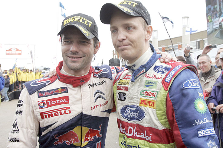 Sebastien Loeb beats Mikko Hirvonen to the World Rally Championship title by a single point