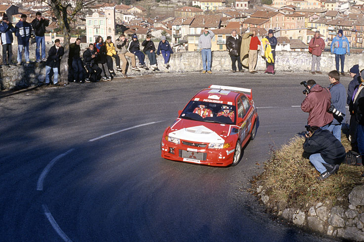 Tommi Makinen wins the last of his four successive World Rally titles