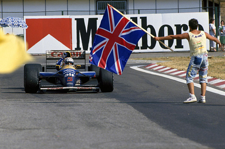 Nigel Mansell dominates the season to claim his only world championship