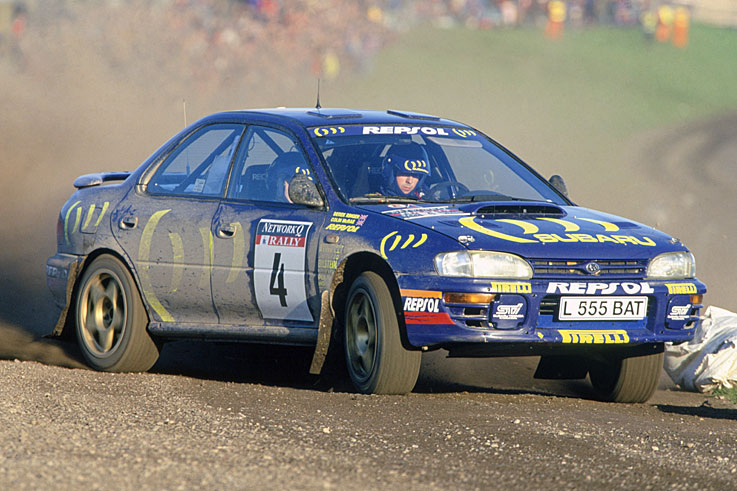 Colin McRae becomes the first Briton to win the World Rally Championship