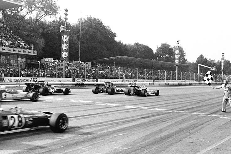 Peter Gethin wins the closest ever grand prix finish at Monza