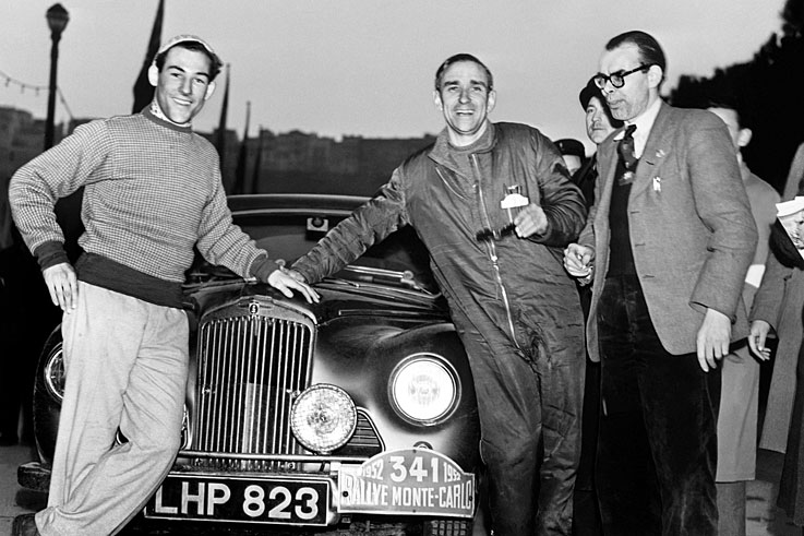 Stirling Moss (Sunbeam-Talbot) finishes runner-up in the Monte Carlo Rally, behind Sidney Allard