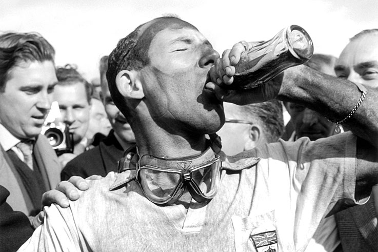 Vanwall takes the first win for a British car at Aintree, Stirling Moss and Tony Brooks sharing the drive