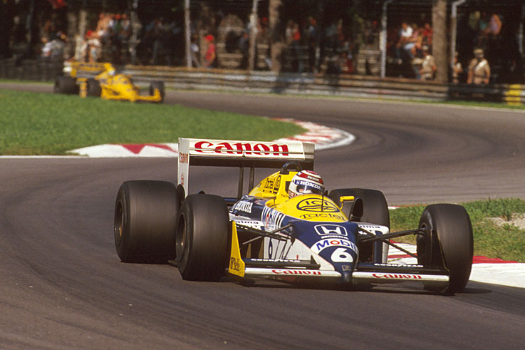 Nelson Piquet wins the last of this three world titles