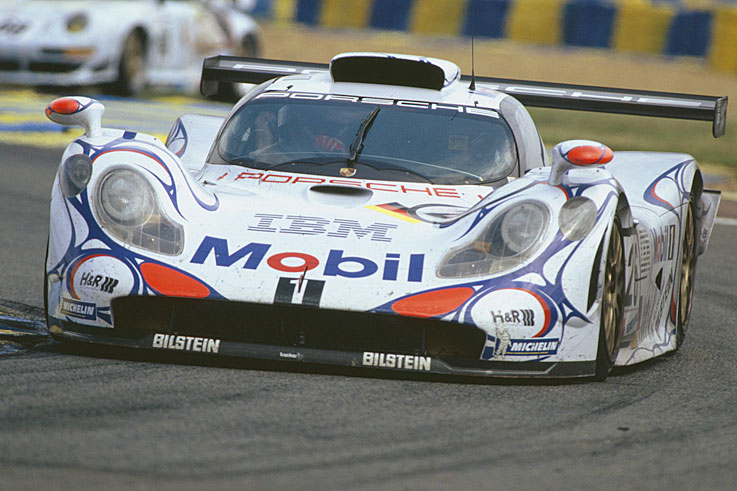 Laurent Aiello, Allan McNish and Stephane Ortelli win Le Mans in a Porsche 911-GT1