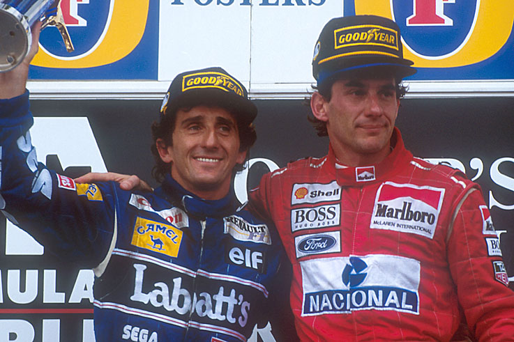 Alain Prost wins his fourth and final world championship